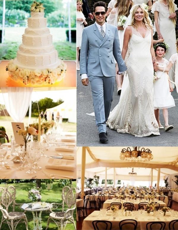 Kate Moss'un Düğününün Rengi Yeşildi